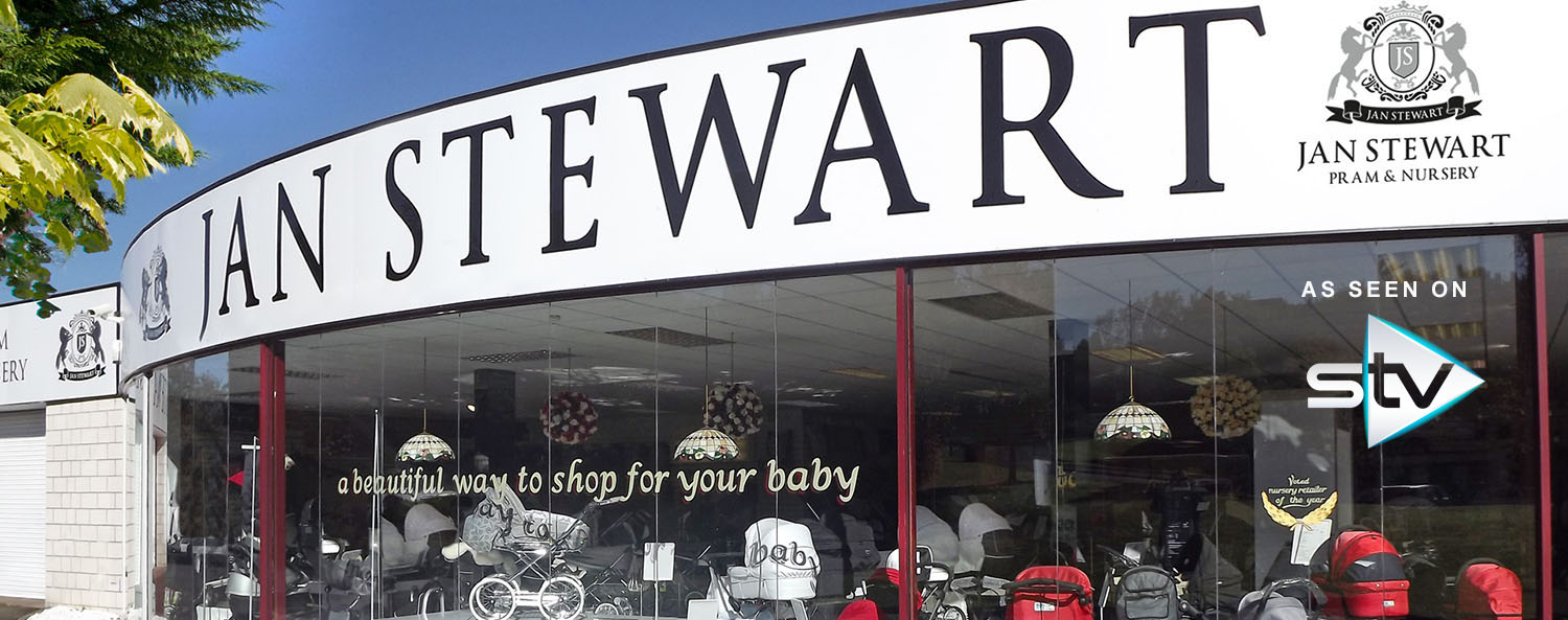 Slider Jan Stewart Pram & Nursery Outside Store