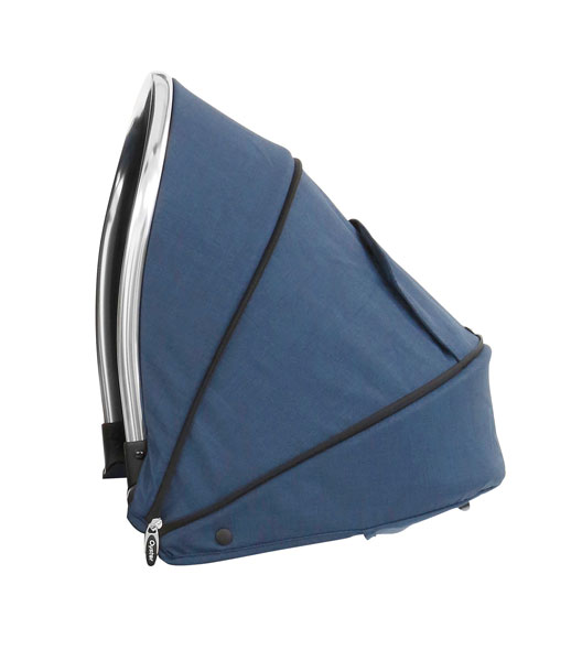 Oyster Max Tandem Lie Flat Seat Unit Hood Oxford Blue