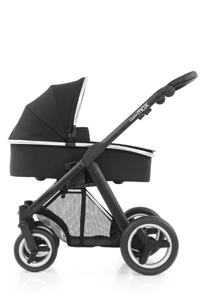 Oyster Max Carrycot Black Chassis Ink Black