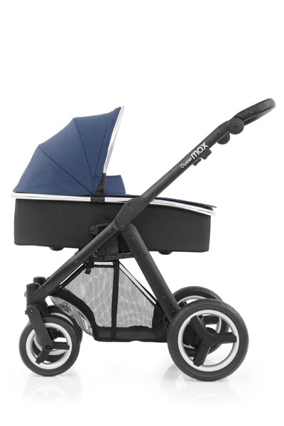 Oyster Max Carrycot Black Chassis Oxford Blue