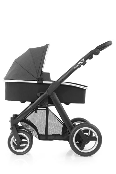Oyster Max Carrycot Black Chassis Tungsten Grey