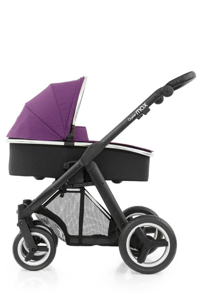 Oyster Max Carrycot Black Chassis Wild Purple