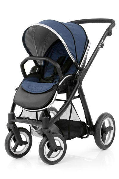 Oyster Max Seat Unit Black Chassis Oxford Blue