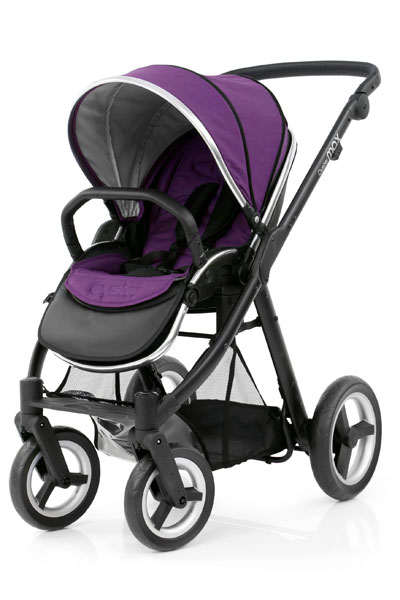Oyster Max Seat Unit Black Chassis Wild Purple