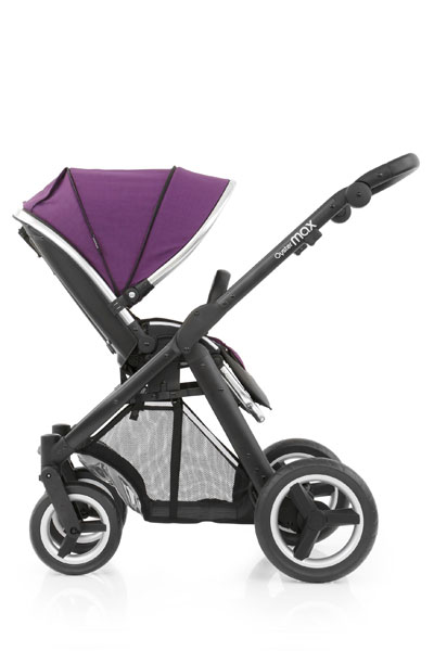 Oyster Max Seat Unit Facing Black Chassis Wild Purple