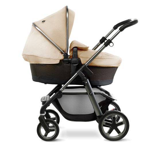 Pioneer Graphite Carrycot Side Sand