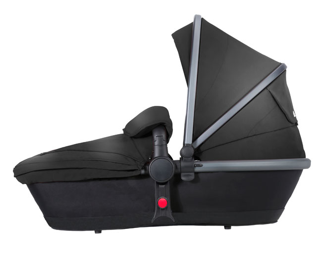 Surf 3 Side Carry Cot Black Graphite