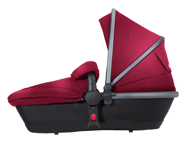 Surf 3 Side Carry Cot Vintage Red Graphite